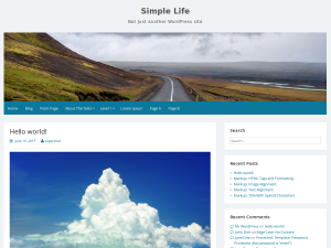 Simple Life :  Free WordPress Theme